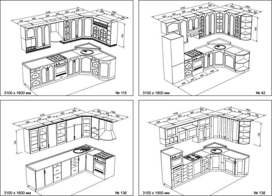 Угловая кухня своими руками из дерева чертежи